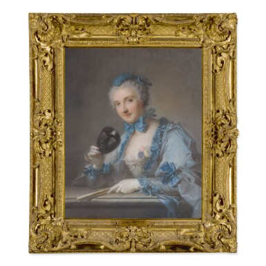 View 2. Thumbnail of Lot 194. PORTRAIT OF MADAME ROYER, HALF-LENGTH, WITH A MASK AND FAN.