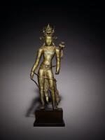 An Important Copper Alloy Figure of Manjushri Central, Tibet, 12th/13th Century