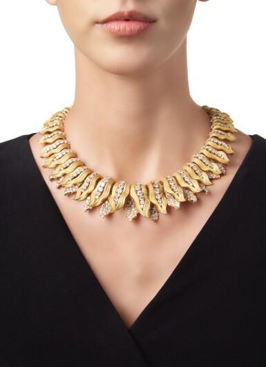 View 2. Thumbnail of Lot 414. GOLD AND DIAMOND NECKLACE, BULGARI | 黃金鑲鑽石項鏈,寶格麗.