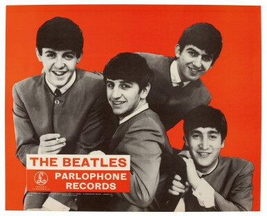 THE BEATLES | Parlophone Records promotional poster, 1963