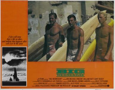 BIG WEDNESDAY (1978) LOBBY CARD, US