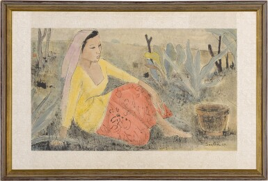View 2. Thumbnail of Lot 4551. Seated Malay Woman   坐著的馬來女士       .