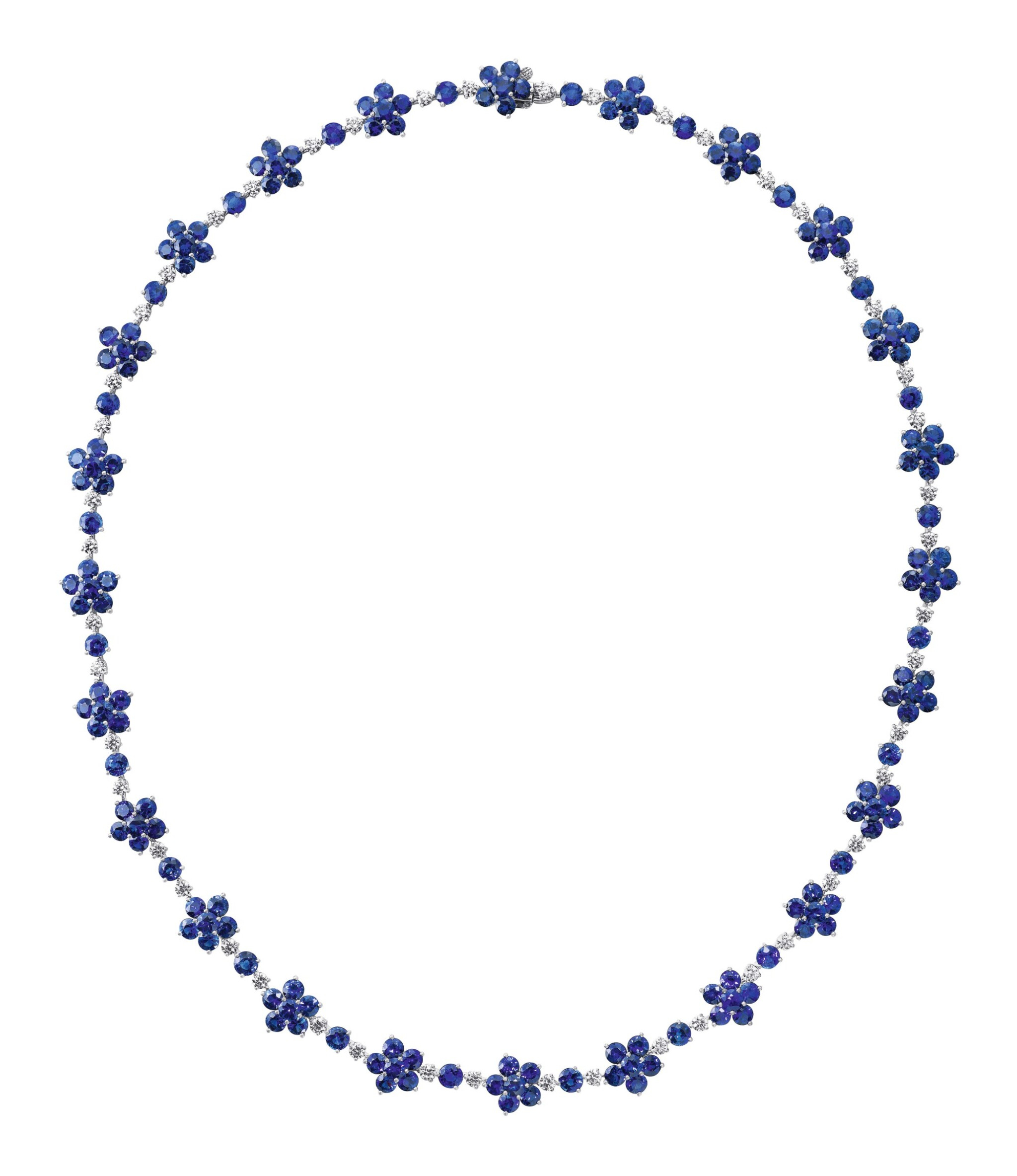View full screen - View 1 of Lot 73. GRAFF | SAPPHIRE AND DIAMOND NECKLACE.
