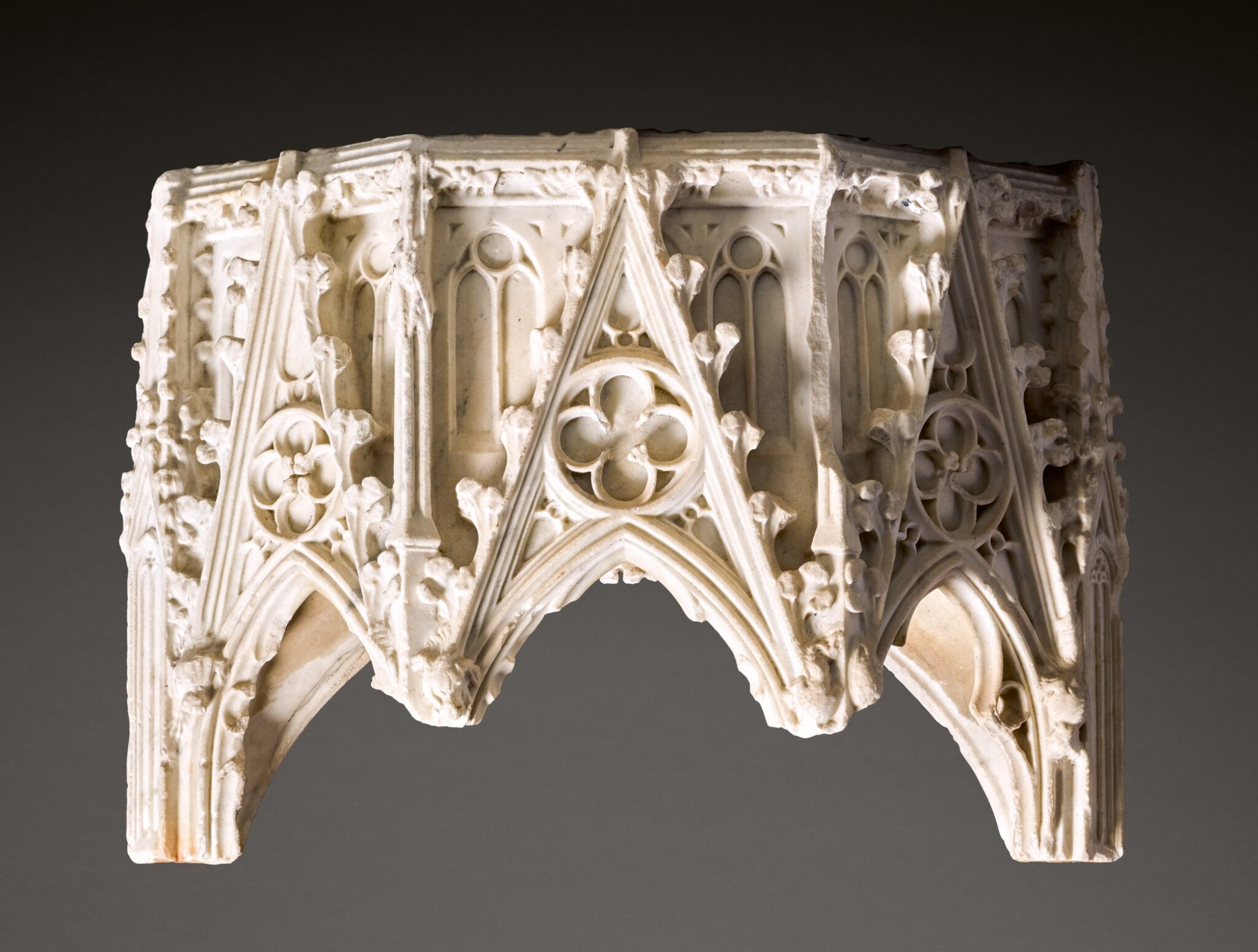 View 1 of Lot 120. French, Île de France, circa 1330-1380 | Canopy from a Tomb.