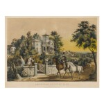 View full screen - View 1 of Lot 1763. CURRIER & IVES (PUBLISHERS)   AMERICAN COUNTRY LIFE. MAY MORNING.