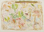 UNTITLED (LANDSCAPE WITH MARSUPIALS, BIRDS, REPTILES AND INSECTS), CIRCA 1965