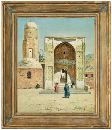 View 4. Thumbnail of Lot 22. RICHARD KARLOVICH ZOMMER | A SHADED ARCHWAY AND MOSQUE IN TURKESTAN (A PAIR).