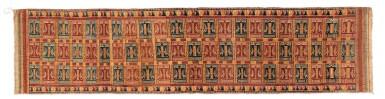 "View 4. Thumbnail of Lot 41. Tissu cérémoniel ""à jonques"" palepai, Lampung, Sumatra, Indonesia, ca.1900 | Ceremonial hanging ""ship cloth"" palepai, Lampung, Sumatra, Indonesia, about 1900."