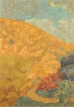 Paysage d'automne à Châteauneuf