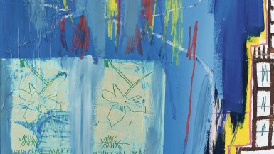 View 3. Thumbnail of Lot 105.  JEAN-MICHEL BASQUIAT  |  JUSTCOME SUIT.