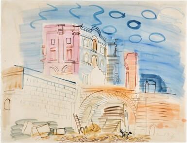 View 1. Thumbnail of Lot 28. Ruine de l'abbaye de Montmajour.