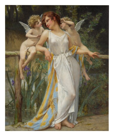 View 1. Thumbnail of Lot 10. GUILLAUME SEIGNAC | PSYCHE WITH PUTTI.
