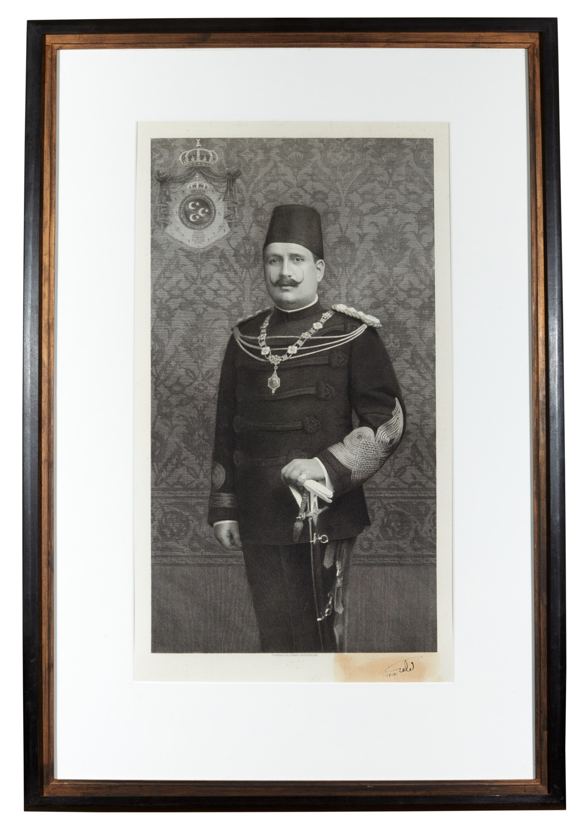 View full screen - View 1 of Lot 94. Egypt | Portrait of Fuad I of Egypt.