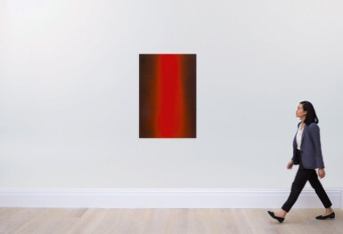LUCIEN SMITH | UNTITLED (RED/BLACK FLOOD PAINTING 01)