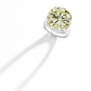 View 2. Thumbnail of Lot 313. FANCY INTENSE YELLOW DIAMOND RING.