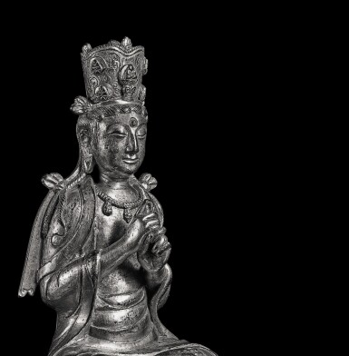 View 9. Thumbnail of Lot 596. A GILT-BRONZE FIGURE OF VAIROCANA,  LIAO DYNASTY.