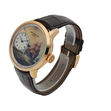 View 2. Thumbnail of Lot 557. ARNOLD & SON   'INDIAMEN', REF 12.2.3.01, PINK GOLD WRISTWATCH WITH DEAD SECONDS AND HAND PAINTED MOTHER-OF-PEARL DIAL   CIRCA 2013.