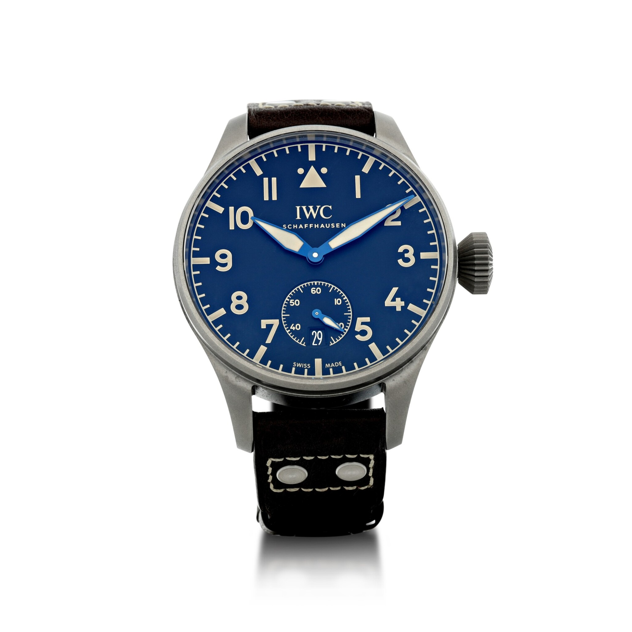 View full screen - View 1 of Lot 90. IWC | REFERENCE IW510301 BIG PILOT HERITAGE 48 A LIMITED EDITION TITANIUM WRISTWATCH WITH DATE, CIRCA 2016.
