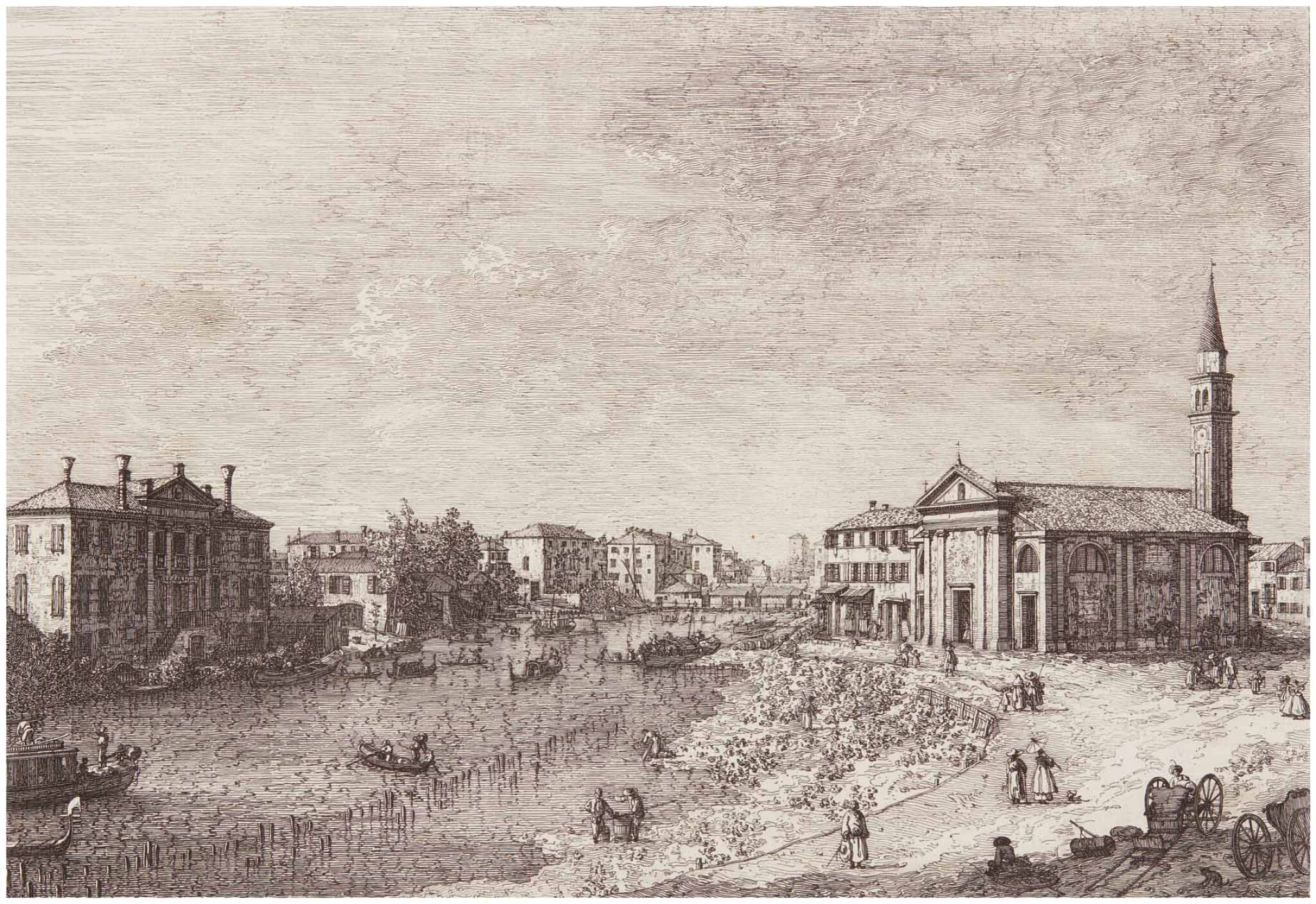 View full screen - View 1 of Lot 23. GIOVANNI ANTONIO CANAL, CALLED CANALETTO | AL DOLO (BROMBERG 4).