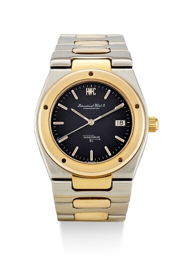 IWC | JUMBO INGENIEUR, A STAINLESS STEEL AND YELLOW GOLD BRACELET WATCH WITH DATE, CIRCA 1975