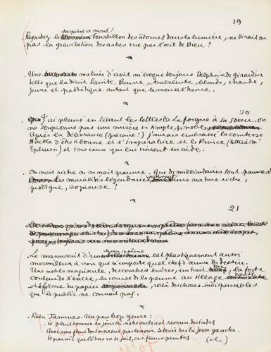 View 1. Thumbnail of Lot 224. COCTEAU. Journal 1911-1912. Manuscrit inédit. 91 p. in-folio. Précieux journal de jeunesse. .
