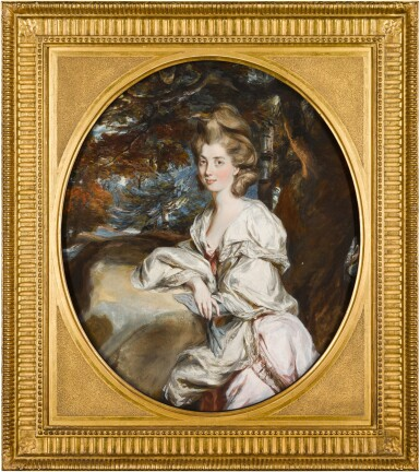 View 4. Thumbnail of Lot 38. DANIEL GARDNER     PORTRAITS OF THE HON. MARY SHUTTLEWORTH (D. 1777); AND HER SISTER, ANNA MARIA, SUO JURE 9TH BARONESS FORRESTER (D. 1808).
