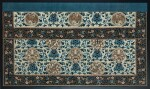 Garniture d'autel en soie et fils d'or brodés Dynastie Qing, XIXE siècle | 清十九世紀 緞繡牡丹雜寶紋供桌圍 | A large embroidered silk altar frontal table, Qing Dynasty, 19th century