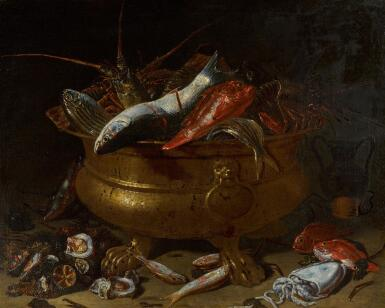 GIUSEPPE RECCO | Still life with fish and molluscs