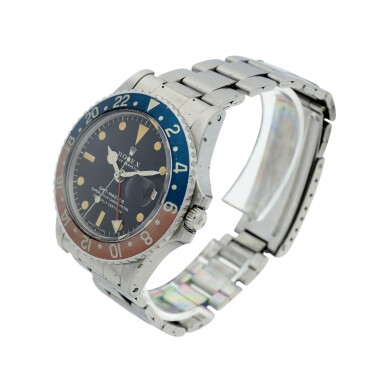 View 2. Thumbnail of Lot 7. ROLEX | REFERENCE 1675 GMT-MASTER 'PEPSI'  A STAINLESS STEEL AUTOMATIC DUAL TIME WRISTWATCH WITH DATE AND BRACELET, CIRCA 1970.