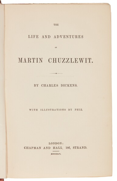 Dickens, Martin Chuzzlewit, 1844, first book edition, variant binding