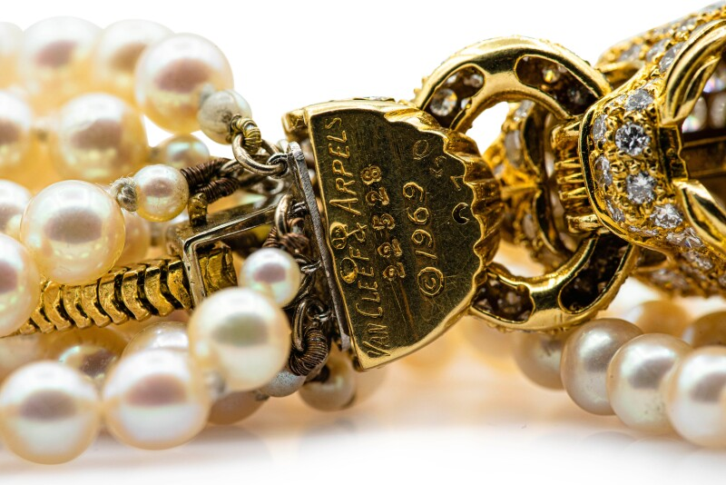 Cultured Pearl and Diamond Bracelet