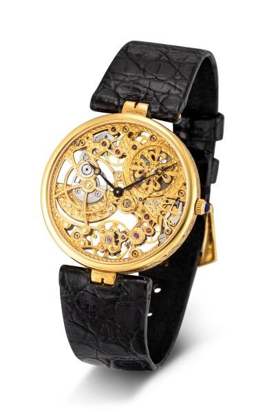 View 2. Thumbnail of Lot 8085. PATEK PHILIPPE   REFERENCE 3878   A YELLOW GOLD SKELETONIZED WRISTWATCH, CIRCA 1994   百達翡麗   型號3878   黃金鏤空腕錶,約1994年製.