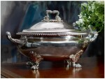 A REGENCY SILVER SOUP TUREEN AND COVER, PAUL STORR, LONDON, 1819