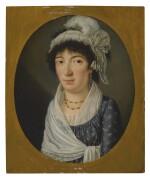 GIACOMO BERGER | PORTRAIT OF A LADY, PROBABLY ELIZABETH REGIS, BUST LENGTH