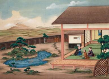 View 3. Thumbnail of Lot 116. ATTRIBUTED TO KAWAHARA KEIGA (1786–1860) STUDIO, A GROUP OF ELEVEN VIEWS STUDIO, EDO PERIOD, EARLY 19TH CENTURY  .