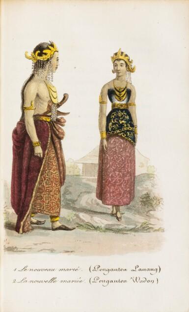 View 2. Thumbnail of Lot 30. WALCKANAER. Le Monde maritime...Nepveu, 1818. 3 vol. in-16, basane brune ornée de l'époque. .