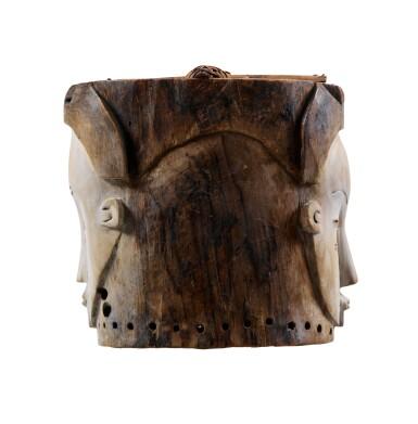 View 4. Thumbnail of Lot 43. Masque heaume Janus, Fang, Gabon | Helmet Janus mask, Fang, Gabon.