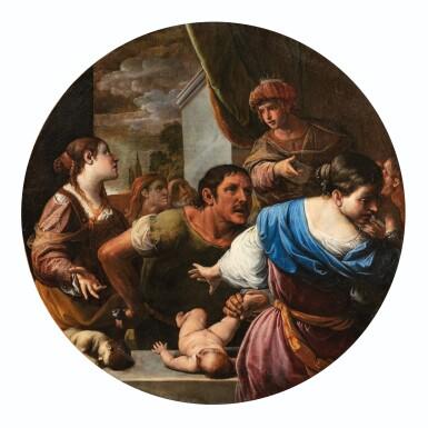 View 2. Thumbnail of Lot 34. The Judgement of Solomon; Daniel defending Susanna.