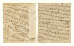 EIGHT AUTOGRAPH PAGES WRITTEN BY THE HATAM SOFER, [PRESSBURG: EARLY 19TH CENTURY]