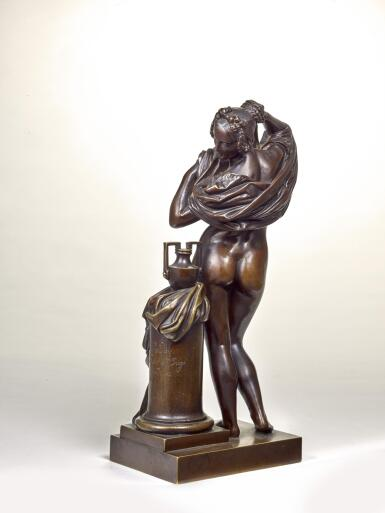 View 2. Thumbnail of Lot 39. JEAN-JACQUES PRADIER, CALLED JAMES    FEMME OTANT SA CHEMISE (WOMAN UNDRESSING).