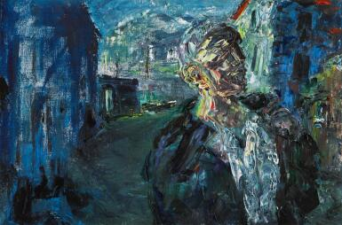 View 1. Thumbnail of Lot 34. JACK BUTLER YEATS, R.H.A.   THE STEVEDORE .