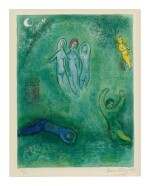 MARC CHAGALL | DAPHNIS'S DREAM AND THE NYMPHS (M. 325; SEE C. BKS. 46)