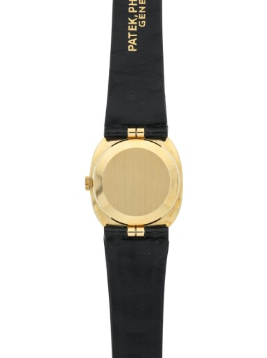View 6. Thumbnail of Lot 166. PATEK PHILIPPE | REFERENCE 3548 ELLIPSE  A YELLOW GOLD OVAL WRISTWATCH WITH IRAQ NATIONAL EMBLEM, MADE IN 1974.