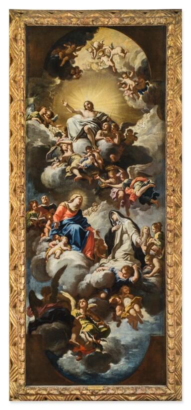 View 3. Thumbnail of Lot 142. LUIGI GARZI | THE VIRGIN PRESENTING SAINT CATHERINE OF SIENA TO CHRIST IN GLORY.