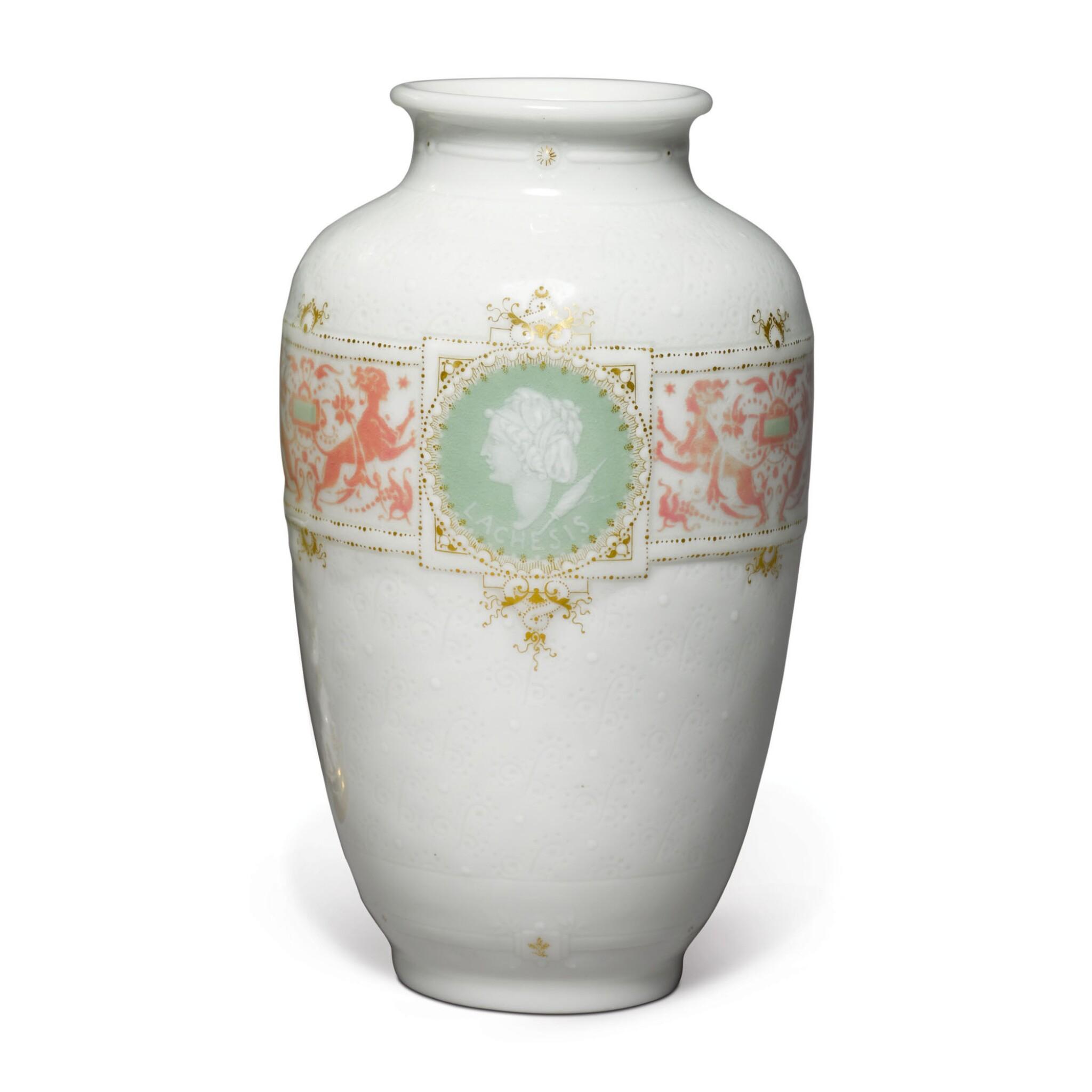 A SÈVRES PÂTE-SUR-PÂTE VASE CIRCA 1888-89