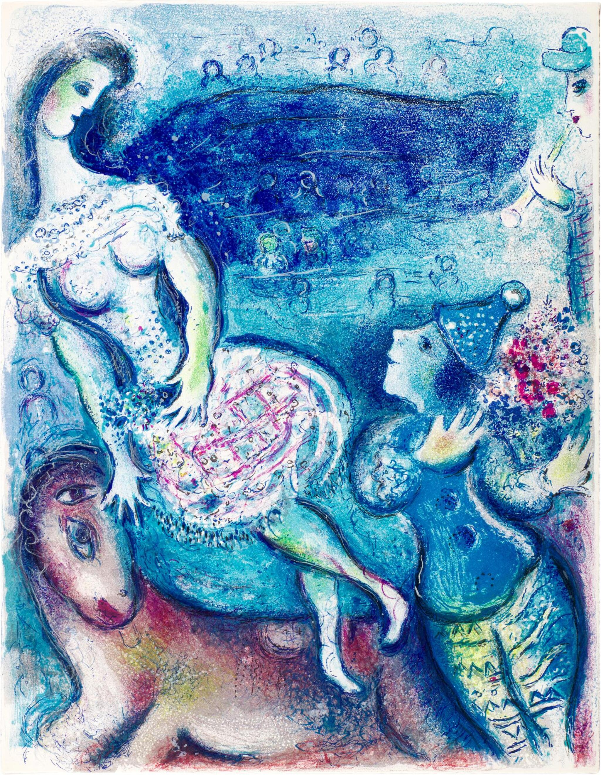 View full screen - View 1 of Lot 42. MARC CHAGALL | LE CIRQUE: ONE PLATE (M. 511; C. BKS. 68).