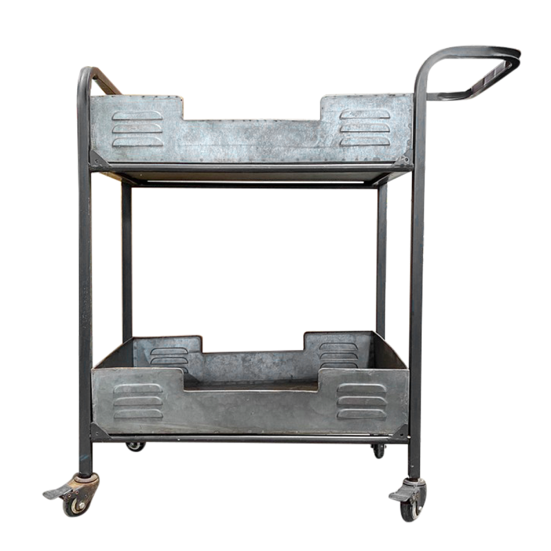 Industrial Style Wheeled Cart