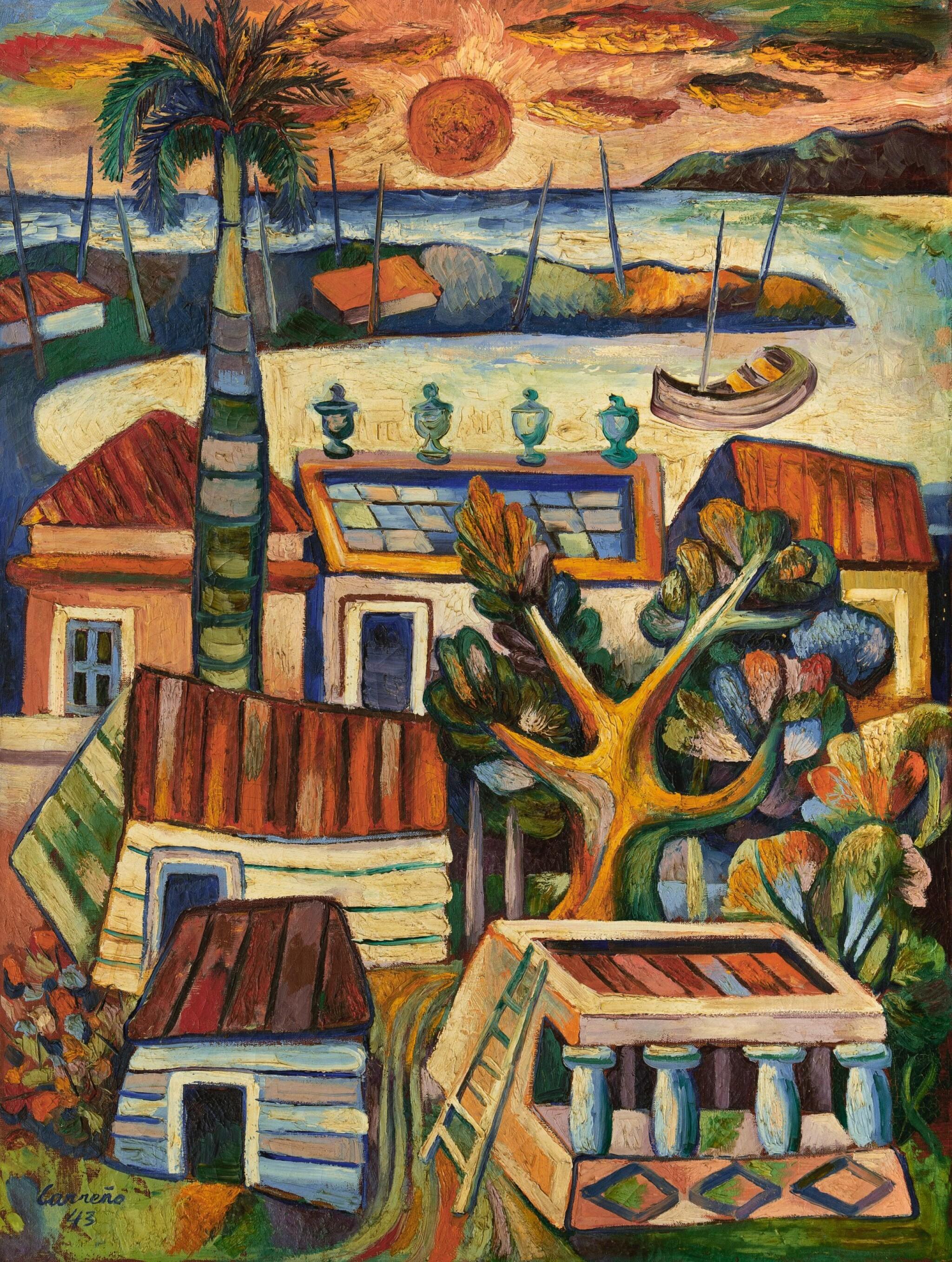 View full screen - View 1 of Lot 33. MARIO CARREÑO | PAISAJE CUBANO (CUBAN LANDSCAPE) .