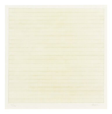 View 6. Thumbnail of Lot 63. AGNES MARTIN    UNTITLED.