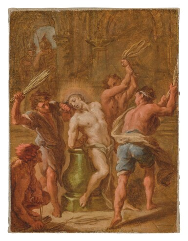 View 1. Thumbnail of Lot 554. ETIENNE PARROCEL   THE FLAGELLATION OF CHRIST.